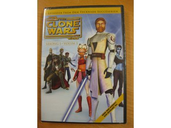 STAR WARS THE CLONE WARS - SÄSONG 1 V3 - 6 EPISODER- NY, INPLASTAD DVD