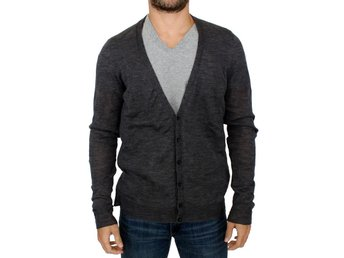 Costume National - Gray full button wool cardigan