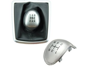 Replacement 5 Speed Black Chrome Gear Stick Knob Cap Cove...