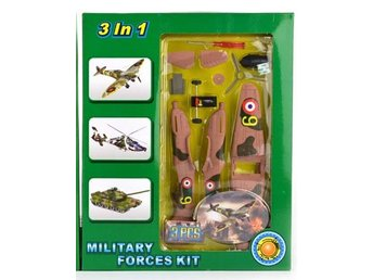 Leksaker Set Robetoy Army Militär Military Forces Kit DIY 3 in 1 61840 Brunt