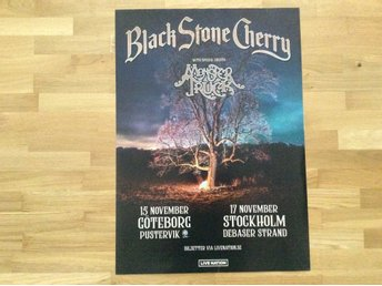 Black stone cherry turneaffisch 2018
