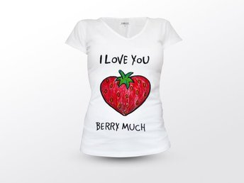 I Love You Very Much Fruit Tshirt size S 34/36