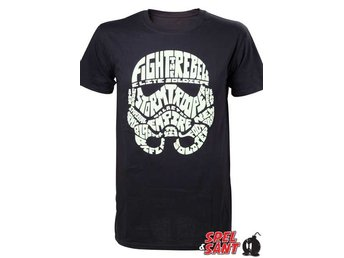 Star Wars Stormtrooper Word Play Glow in the Dark T-shirt Svart (X-Large)