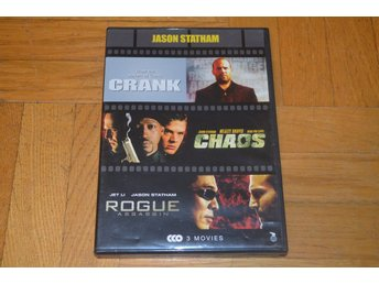 Crank / Chaos / Rogue Assassin ( Jason Statham ) 3 Disc - 3 Filmer - DVD