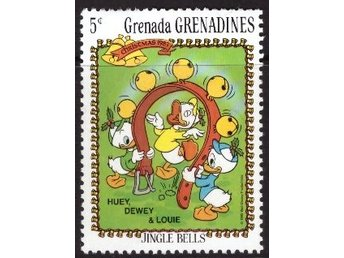 Disney, Grenada, Grenadines, 5-cent Huey, Dewey, and Louie
