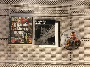 Grand Theft Auto IV, GTA 4, till Playstation 3, PS3, komplett