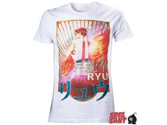 Capcom Street Fighter Ryu T-Shirt Vit (Small)
