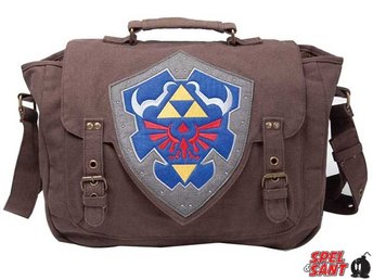 Nintendo Zelda Hylian Shield Messenger Bag Medium Brun
