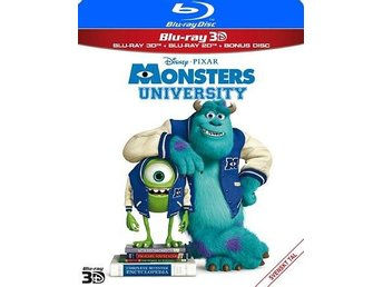 Monsters University 3D+Blu-ray - Ny & Inplastad!