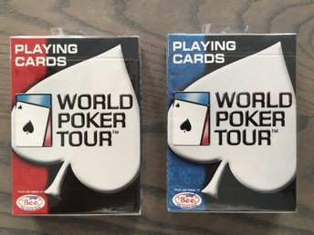 World Poker Tour kortlekar med plastkänsla