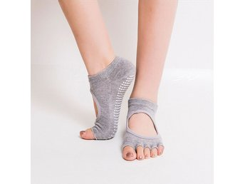 Yoga Sockar / Strumpor/Gym Sports Non-Slip 5-Toe Socks-Grå