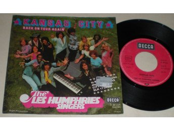Les Humphries Singers 45/PS Kansas City 1974 VG++