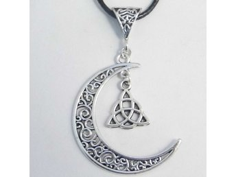 Celtic knut måne halsband / Celtic knot moon necklace