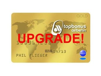 AirBerlin Topbonus Gold Status Upgrade