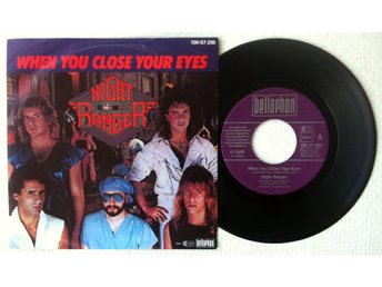 "NIGHT RANGER 'When You Close Your Eyes' German 7"" - Bröndby - NIGHT RANGER 'When You Close Your Eyes' German 7"" - Bröndby"