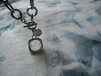 EDBLAD Halsband i stål och fint hänge med sten, glas? Kraftigare länk - Stockholm - EDBLAD Halsband i stål och fint hänge med sten, glas? Kraftigare länk - Stockholm