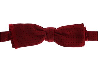 Dolce & Gabbana - Red Polka Dotted 100% Silk Neck Bow Tie