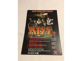Kiss - Flyer A5 Uk turnen Sonic Boom , 2 sidig