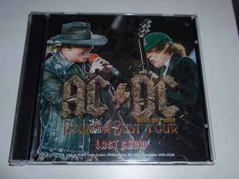 AC/DC - ROCK OR BUST TOUR LAST SHOW 2CD / USA 2016 VERY RARE!