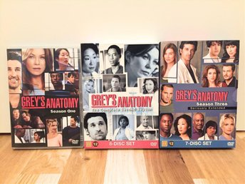 GREY'S ANATOMY: SEASON 1 - 3 | GREY'S ANATOMY: SÄSONG 1 - 3 (DVD) | NY