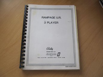 ARKADSPEL | Manual till Rampage 3 Player