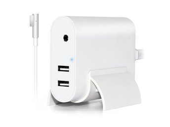 Laddare till MacBook 60W med 2 USB - L kontakt
