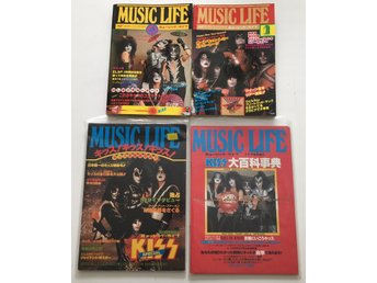 KISS Music Life Japan 4st inkl de 2 legendariska från 70-talet