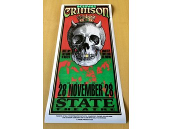 YES KING CRIMSON STATE THEATRE DETROIT 1995 POSTER