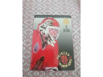 Leaf 1993/94 Painted Warriors insert - Ed Belfour