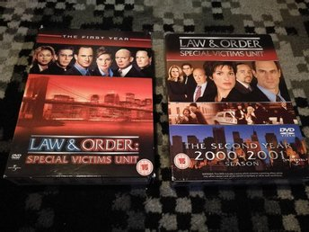 2 DVD BOX - Law & Order Special Victims Unit - Säsong 1 & 2 . i nyskick - Angered - 2 DVD BOX - Law & Order Special Victims Unit - Säsong 1 & 2 . i nyskick - Angered