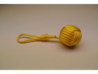 Paracord Monkeyfist boll stor nyckelring 4 cm diameter, 240cm paracord,