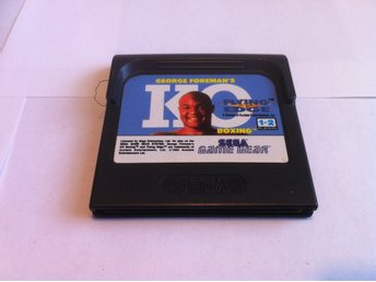 SEGA Game Gear: George Foreman's KO Boxing