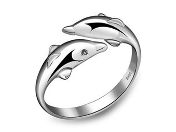 HELT NYTT!! RING New Fashion 925 silver Jewelry  Dolphin Ring