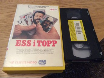 ESS I TOPP HYRVHS ESSELTE VIDEO Terence Hill,Bud Spencer Brock Peters,Western