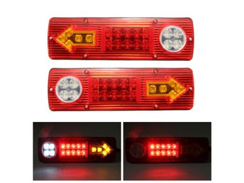 2x 12V LED Trailer Truck Rear Tail Brake Stop Turn Light ...