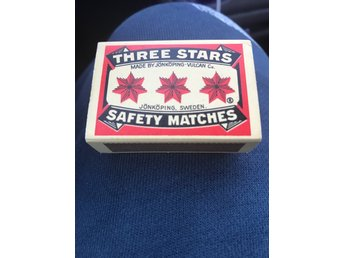 Tändstickor Three Stars Safety Matches Retro