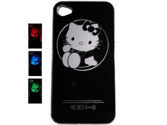 Hello Kitty LED Flash Light iPhone 4G Skal