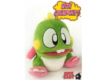 Bubble Bobble 22cm Bub Green Dragon Plush Figur