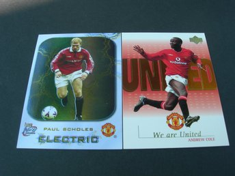 Manhester United -  Inserts - Paul Scholes 2000 & Andrew  Cole 2001  !!