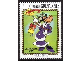 Disney, Grenada,  Grenadines, 1-cent Clarabelle Cow