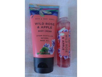 Bath & Body Works WILD ROSE & APPLE  bodycreme och mist travel size mini