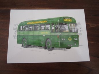 SET OF 4 POSTCARD BUSES GREENLINE (LONON COUNTRY) GOLDEN ERA PUBLISHED