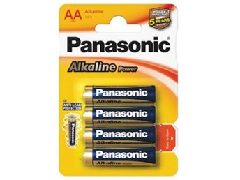 4-Pack Panasonic Alkaline Power LR6/AA (blister) BL040