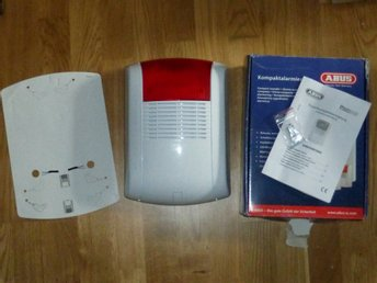 ABUS Kraftig Utomhus Siren med LED-blixt och batteribackup - Täby - ABUS Kraftig Utomhus Siren med LED-blixt och batteribackup - Täby