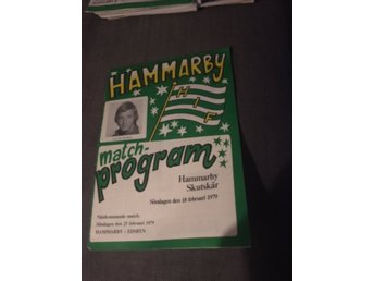 BANDY Program Hammarby IF v Skutskärs IF 18/2 1979