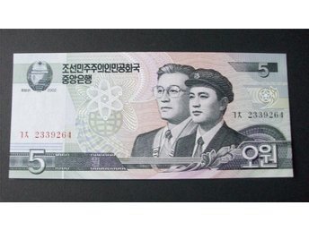 (NK-13) NORD KOREA New 5 Won Scientist 2002 UNC