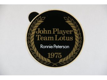 Originaldekal Ronnie Peterson klistermärke John Player team Lotus 1975