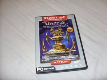 Unreal Tournament 2-disc PC CD ROM spel Infogrames & Epic action shooter game