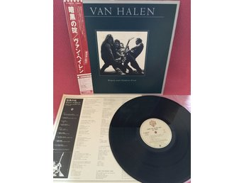 VAN HALEN - WOMEN AND CHILDREN FIRST JAPAN PRESS INSERT OBI NEAR MINT