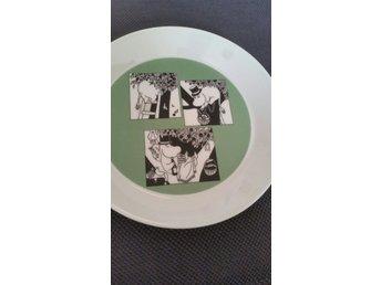 Mumin Arabia 19 cm tallrik fat muminpappa muminpappan 2015 grön - Gustavsberg - Mumin Arabia 19 cm tallrik fat muminpappa muminpappan 2015 grön - Gustavsberg